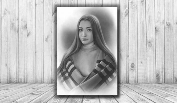 Цифровой портрет карандашом