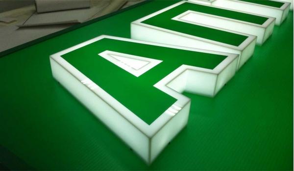Световые объемные буквы из пластика