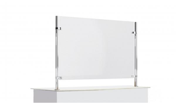 Настольный защитный экран на металлических стойках